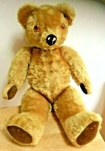 "Original vintage ""Pedigree"" gold mohair Teddy Bear circa 1950"