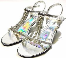 Silver Slipper Flash Women's Sandals US size 5.5 M New Limited DEAL Hurry Act