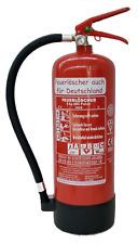 NEU OVP Feuerlöscher ABC Pulver 6 kg EN3 + Manometer + Standfuß Pulverlöscher