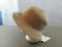 August Hats Women's Cloche, Natural Metallic, One Size