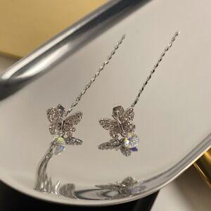 New Fashion Halloween Earrings Swarovski Cubic Butterfly Drop Handmade Earrings