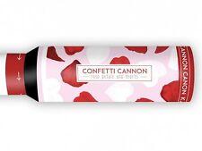 Konfettikanone Granate 30 cm rote Stoff-Blüten weiße Stoff-Herzen Hochzeit Party