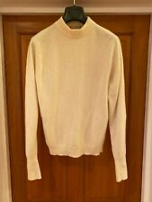 """Barrie for W.Bill 100% Pure Cashmere Cream Jumper Size 36"""" Made in Scotland VTG"""