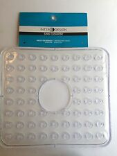 InterDesign Sink Mat, Hole in Middle, Clear