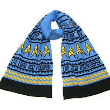 More details for star trek knitted scarf christmas gift for spock fan-live long and prosper scarf