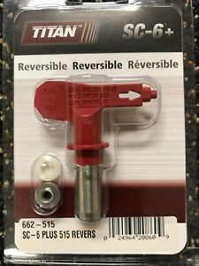 Titan SC6 515 Reversible Spray Tip 662-515 or 662515 OEM