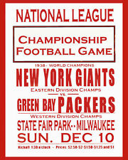 1938 GREEN BAY PACKERS vs NEW YORK GIANTS 8X10 PHOTO FOOTBALL PICTURE NFL
