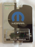 Greenlight 1:64 Hobby Exclusive 2010 Jeep Wrangler MOPAR BLACK GREEN MACHINE