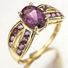 Amazing Size 6 Elegant Amethyst 18K Gold Filled Women's Fashion Engagement Ring