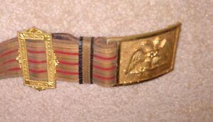 "Vintage ""Masonic"" 32nd Degree Sword Belt / Scottish Rites"