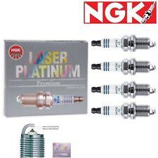 4 - NGK Laser Platinum Plug Spark Plugs 1995-1998 Mazda Protege 1.5L L4 Kit