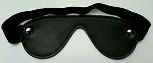 Brand New 100% Real Leather Deluxe Blindfold Narrow Mask