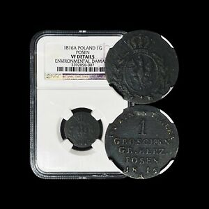 1816 A Posen Groschen - NGC Graded VF - Prussia Partition of Poland