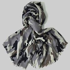 Kaschmir Seiden Schal Marke Hemisphere- Military- Maße 200x70cm, Fb creme grau