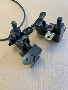 BMW 730 740i 745 750i 760i E65 Hood Lock Latches 2 Pcs With Cable OEM. Used.
