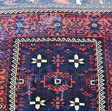Antico TAPPETO BELUTSCH 19. Jhd. 226x114 Tappeto Orientale Rug parte di Tapis Tappeto Alfombra