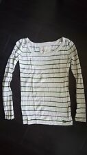 Abercrombie & Fitch A&F Women's Ivory Striped Sweater Size S - Great Condition!