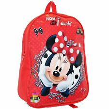 MINNIE MOUSE LARGE BACKPACK RUCKSACK SCHOOL BAG KIDS GIRLS RED