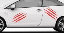 2X CLAWS GRAPHIC Red VINYL DECAL STICKER Car Van Window Wall SMOOTH SURFACE