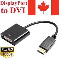 Display Port Male to DVI Female Cable Adapter Converter Thunderbolt DP for PC