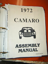 1972 CHEVROLET CAMARO ASSEMBLY MANUAL BY DRAFTING GRAPHIC INSTRUCTIONS
