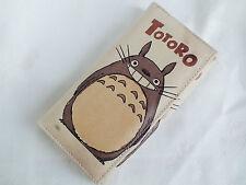 Totoro Billetera Monedero moneda mujer chica color beige con cremallera titular de la tarjeta de dibujos animados japonés P6
