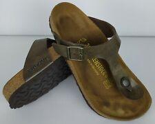 Birkenstock Gizeh Birko-Flor Regular Fit Bronze Womens Sandals Size 36 230 mm
