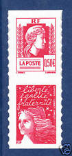 FRANCE AUTOADHESIF N°   43 ( 3716 ) P43, Paire V1 ** MNH, Marianne d'Alger, TB