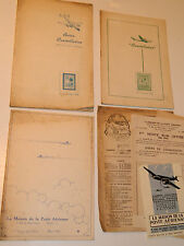 LOT 3 ANCIEN revue POSTE aerienne AVION constellation 1946 1948 timbre aviation