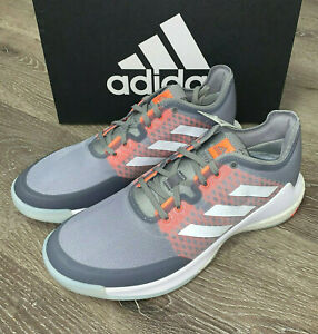 Mens ADIDAS CRAZYFLIGHT VOLLEYBALL SHOES Gray Sneakers EG2343 NEW