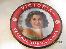 "VICTORIA BEER BEAUTIFUL LADY POSING IN GREEN 4-1/4"" DIAM. MINI TIP TRAY - NEW"