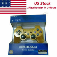 Gold PS3 PlayStation 3 DualShock 3 Wireless SixAxis Controller GamePad US SHIP