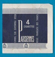 Old EMPTY Paper cigarette packet sample 4 cigs size Parisiennes #914