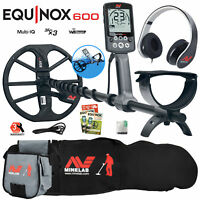 Minelab EQUINOX 600 Multi-IQ Metal Detector with Carry Bag and Finds Pouch