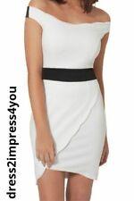SALE🌹BNWT JESSICA WRIGHT LIPSY BARDOT SCALLOPED WRAP FRONT BODYCON UK12 RRP £65
