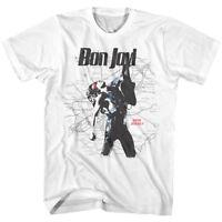 Jon Bon Jovi New Jersey Road Map Mens T Shirt Rock Band Album Concert Tour Merch