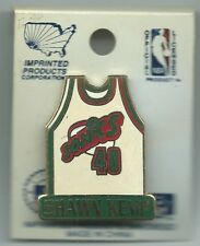 NBA Seattle Supersonics Sonics Shawn Kemp #40 White Jersey Pin Basketball 1996