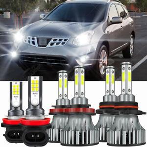 Para For Nissan Rogue 2008 2009 2010 2011 2012 2013 6x LED faro + luz antiniebla