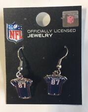 Rob Gronkowski Jersey #87 Dangle Earrings NEW Jewelry New England Patriots