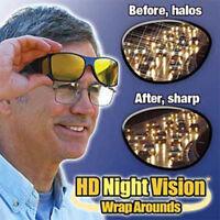 2X  HD Vision Driving Sunglasses Wrap Around Glasses As Seen Anti Glare UV On TV