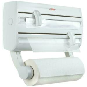 Leifheit Parat F2 Wall-Mounted Roll Holder - 3 Rolls - Storage Shelf For Spices