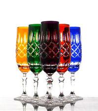 Römer Bleikristall Sekt Gläser 6er (440) farbig sortiert handgeschliffen 24%PbO