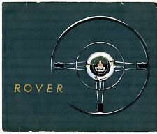 Rover 60 75 90 105R 105S P4 1957-58 UK Market Sales Brochure