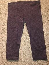 Under Armour All Season Gear Womens L Purple Yoga Exercise Stretch Pants Cropped