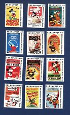 BHUTAN - # 689-712 - MNH set & 12 S/S - Mickey Mouse Movie Posters - 1989