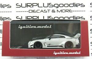 2021 Ignition Model 1:64 Silver NISSAN GT-R LB Silhouette Works 35GT-RR IG2386