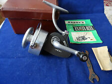 VERY GOOD SCARCE CASED VINTAGE 1ST MODEL HARDY EXALTA SPINNING REEL +BOOKLET ETC