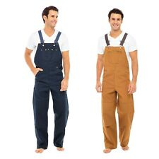 Men's Duck Bib and Brace Decorators Overalls Heavy Duty Work Dungarees Unlined