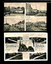 NEDERLAND 1938/1944. = ANDIJK = 2 x AK = FRAAI/PRACHT