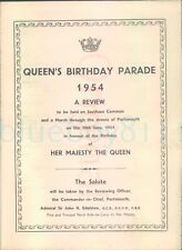 More details for 1954 queens birthday parade southsea common review programme